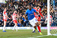 Goalscorer Omar Bogle of Portsmouth scores and celebrates during Portsmouth vs Doncaster Rovers, Sky Bet EFL League 1 Football at Fratton Park on 2nd February 2019