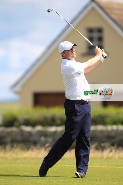 Niall Gorey (Palmerstown Stud) on the 17th fairway during Matchplay Round 3 of the South of Ireland Amateur Open Championship at LaHinch Golf Club on Saturday 25th July 2015.<br /> Picture:  Golffile | TJ Caffrey
