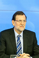 Appearance of Mariano Rajoy, president of the spanish government, at the PP headquarters to talk about the B?°rcenas case