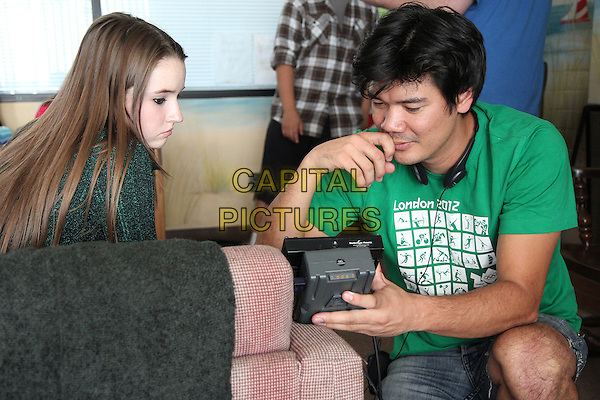 Kaitlyn Dever, Destin Cretton (Director)<br /> on the set of Short Term 12 (2013) <br /> (States of Grace)<br /> *Filmstill - Editorial Use Only*<br /> CAP/NFS<br /> Image supplied by Capital Pictures