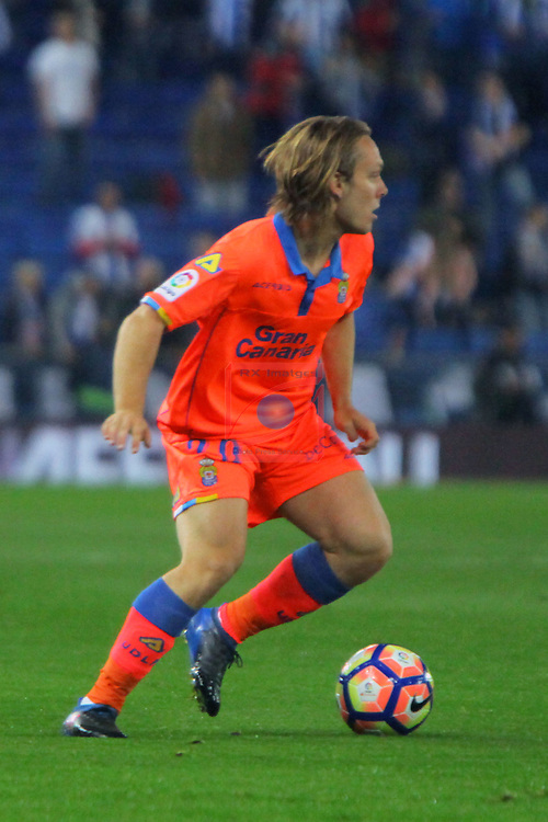 League Santander 2016/2017. Game: 27.<br /> RCD Espanyol vs UD Las Palmas: 4-3.<br /> Alen Halilovic.