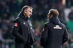 30.10.2019, wohninvest WESERSTADION, Bremen, GER, DFB-Pokal, 2. Runde, SV Werder Bremen vs 1. FC Heidenheim<br /> <br /> DFB REGULATIONS PROHIBIT ANY USE OF PHOTOGRAPHS AS IMAGE SEQUENCES AND/OR QUASI-VIDEO.<br /> <br /> im Bild<br /> Frank Baumann (Geschäftsführer Fußball Werder Bremen), <br /> Christoph Pieper (Leiter PR und Oeffentlichkeitsarbeit SV Werder Bremen), <br /> <br /> Foto © nordphoto / Ewert