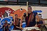 Taiko Drummers during the annual Nihonmachi Street Fair in Japantown, San Francisco, California