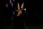 Atletico de Madrid's coach Diego Pablo Simeone celebrates the Super Cup Tittle after La Liga match. August 25, 2018. (ALTERPHOTOS/A. Perez Meca)