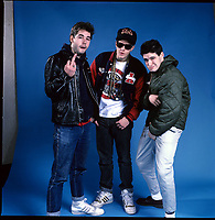 Portraits of The Beastie Boys photographed in Chicago, IL in the mid 1980s. *** HIGHER RATES APPLY: CALL TO NEGOTIATE *** NO SKIN / TAB MAGS ***<br /> CAP/MPI/GA<br /> &copy;GA/MPI/Capital Pictures