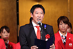 Daichi Suzuki, <br /> JULY 15, 2016 - Hockey : <br /> Japan women's national hockey team send-off party <br /> for the Rio 2016 Olympic Games in Tokyo, Japan. <br /> (Photo by AFLO SPORT)