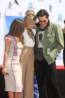 LOS ANGELES - APR 26:  Eva Longoria, Jane Fonda, Jim Carrey at the Jane Fonda Hand and FootPrint Ceremony at the Chinese Theater on April 26, 2013 in Los Angeles, CA