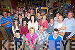 SURPRISE: What a surprise Thomas O'Connell got as the photographer arrived to take his pic for his 50th birthday at McHughes Bar, Cordal, on Saturday night, (Thomas is (seated 2nd from right) Thomas celebrated his birthday with his family and all at McHughes Bar.