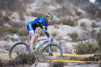 Chelva, SPAIN - MARCH 6: Nemesio Cordero during Spanish Open BTT XCO on March 6, 2016 in Chelva, Spain