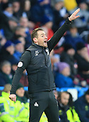9th February 2019, The John Smith's Stadium, Huddersfield, England; EPL Premier League football, Huddersfield versus Arsenal; Huddersfield Town manager Jan Siewert urges on his players as they press for injury time equalising goal