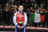 SHORT TRACK: TORINO: 15-01-2017, Palavela, ISU European Short Track Speed Skating Championships, Podium 1000m Ladies, Sofia Prosvirnova (RUS), ©photo Martin de Jong