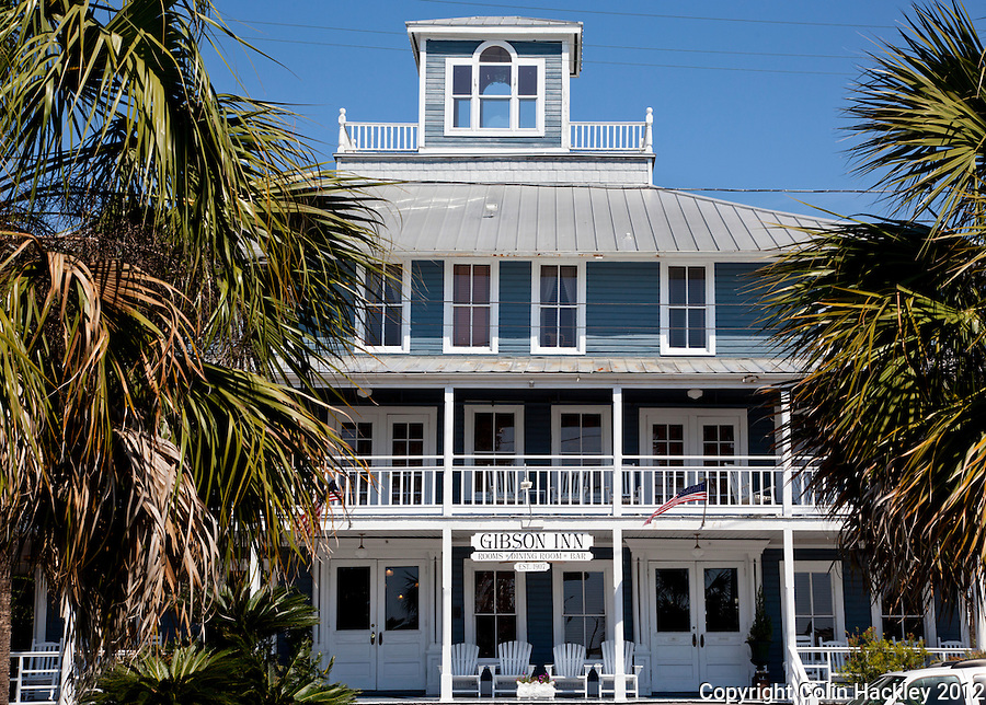 Called The Franklin Inn when built in 1907, The Gibson Inn was restored in 1988 and features a restaurant, bar and 30 rooms..COLIN HACKLEY PHOTO