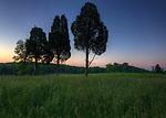 Jewel Colored Sunrise at Gettysburg Battlefield