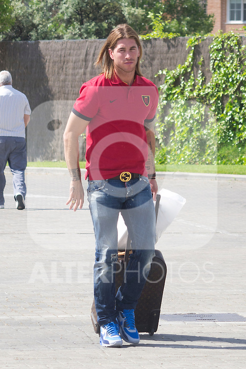 01.06.2012. Arrival of the players in the Spanish football team squad for the European Championship in Poland and Ukraine to the Ciudad del Futbol of Las Rozas, Madrid. In the image Sergio Ramos (Alterphotos/Marta Gonzalez)