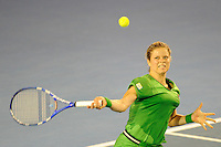 MELBOURNE, 29 JANUARY - Kim Clijsters (BEL)  in action during women's final match against Na Li (CHN)on day thirteen of the 2011 Australian Open at Melbourne Park, Australia. (Photo Sydney Low / syd-low.com)