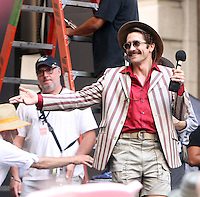 NEW YORK, NY-July 16:  Jake Gyllenhaal shooting on location for Netflix & Plan B Enterainment  film Okja in New York. NY July 16, 2016. Credit:RW/MediaPunch
