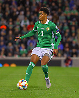 Jamal Lewis (Nordirland, Northern Ireland) - 09.09.2019: Nordirland vs. Deutschland, Windsor Park Belfast, EM-Qualifikation DISCLAIMER: DFB regulations prohibit any use of photographs as image sequences and/or quasi-video.