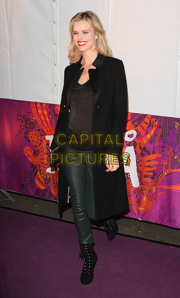 "Eva Herzigova.VIP Night for Cirque du Soleil's new production, ""Kooza"" at the Royal Albert Hall, London, England..January 8th 2013.full length black coat jacket leather trousers top.CAP/ROS.©Steve Ross/Capital Pictures."