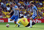 Lewis Dunk of Brighton & Hove Albion during the premier league match at the Vicarage Road Stadium, Watford. Picture date 26th August 2017. Picture credit should read: Robin Parker/Sportimage