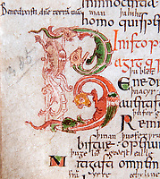 BNPS.co.uk (01202 558833)<br /> Pic: PhilYeomans/BNPS<br /> <br /> Richly decorated texts...<br /> <br /> Woman's touch - 1000 year old book from the Royal Anglo-Saxon Convent of Wilton is conserved.<br /> <br /> The ancient book was returned safely to Salisbury Cathedral after fears of a lockdown led to a hastily arranged emergency dash from the conservators in Cambridge.<br /> <br /> Dating from the 10th century the incredibly rare Psalter is fascinating to medieval scholars for two reasons - it is thought to have been used and adapted by women, and it's latin text has been annotated into early English to aid the understanding of the Anglo Saxon noviates who would have studied it.<br /> <br /> Prof Teresa Webber from Cambridge University notes  'The vast majority of surviving medieval monastic manuscripts survive from communities of monks or canons, but at some point early in its history this psalter was clearly adapted for use by a woman, only a handful of such manuscripts survive to this day'.<br /> <br /> This is likely to indicate the book was in use by the nuns of the Benedictine Convent at nearby Wilton expanded by Alfred the Great after a famous victory against the Viking invaders in 871.
