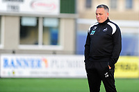 Pictured: Anthony Wright Manager of Swansea City u19's during the FAW youth cup final between Swansea City and The New Saints at Park Avenue in Aberystwyth Town, Wales, UK.<br /> Wednesday 17 April 2019