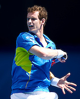 Andy Murray (GBR) (5) against  John Isner (USA) (33) in the Fourth Round of the Mens Singles. Murray beat 7-6 6-3 6-2..International Tennis - Australian Open Tennis - Sunday 24  Jan 2010 - Melbourne Park - Melbourne - Australia ..© Frey - AMN Images, 1st Floor, Barry House, 20-22 Worple Road, London, SW19 4DH.Tel - +44 20 8947 0100.mfrey@advantagemedianet.com