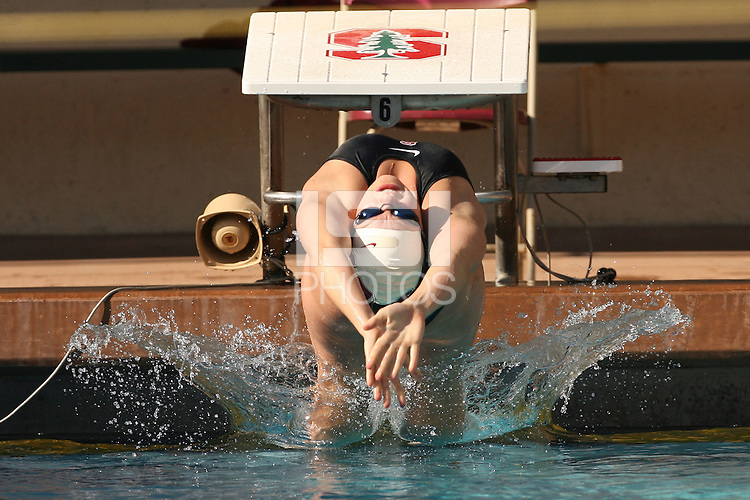 STANFORD, CA - JANUARY 30:  Jamie Bruce of the Stanford Cardinal during Stanford's 166.5-125.5 win over the UCLA Bruins on January 30, 2009 at the Avery Aquatic Center in Stanford, California.