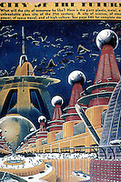 Utopia:  City of Tomorrow, Frank R. Paul, AMAZING STORIES, April 1942.  Corn & Horrigan,  YESTERDAY'S TOMORROWS.