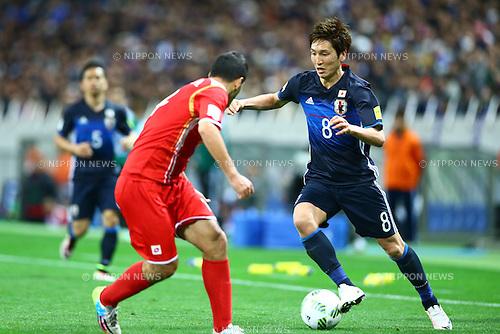Genki Haraguchi (JPN),<br /> MARCH 29, 2016 - Football / Soccer :<br /> FIFA World Cup Russia 2018 Asian Qualifier Second Round Group E match between Japan 5-0 Syria at Saitama Stadium 2002 in Saitama, Japan. (Photo by Kenzaburo Matsuoka/AFLO)