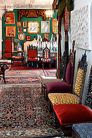 vintage chairs and carpets