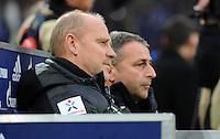FUSSBALL   1. BUNDESLIGA    SAISON 2012/2013    11. Spieltag   FC Schalke - 04 Werder Bremen                              10.11.2012 Trainer Thomas Schaaf (li) und Manager Klaus Allofs (re, beide SV Werder Bremen)