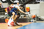 Spain's basketball player Alex Abrines and Angola's basketball player Valdelicio Joaquim during the first match of the preparation for the Rio Olympic Game at Coliseum Burgos. July 12, 2016. (ALTERPHOTOS/BorjaB.Hojas)