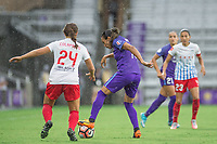 Orlando, FL - Saturday July 01, 2017: Danielle Colaprico, Marta during a regular season National Women's Soccer League (NWSL) match between the Orlando Pride and the Chicago Red Stars at Orlando City Stadium.