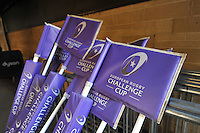A general view of European Rugby Challenge Cup corner flags. European Rugby Challenge Cup match, between Bath Rugby and Pau (Section Paloise) on January 21, 2017 at the Recreation Ground in Bath, England. Photo by: Patrick Khachfe / Onside Images