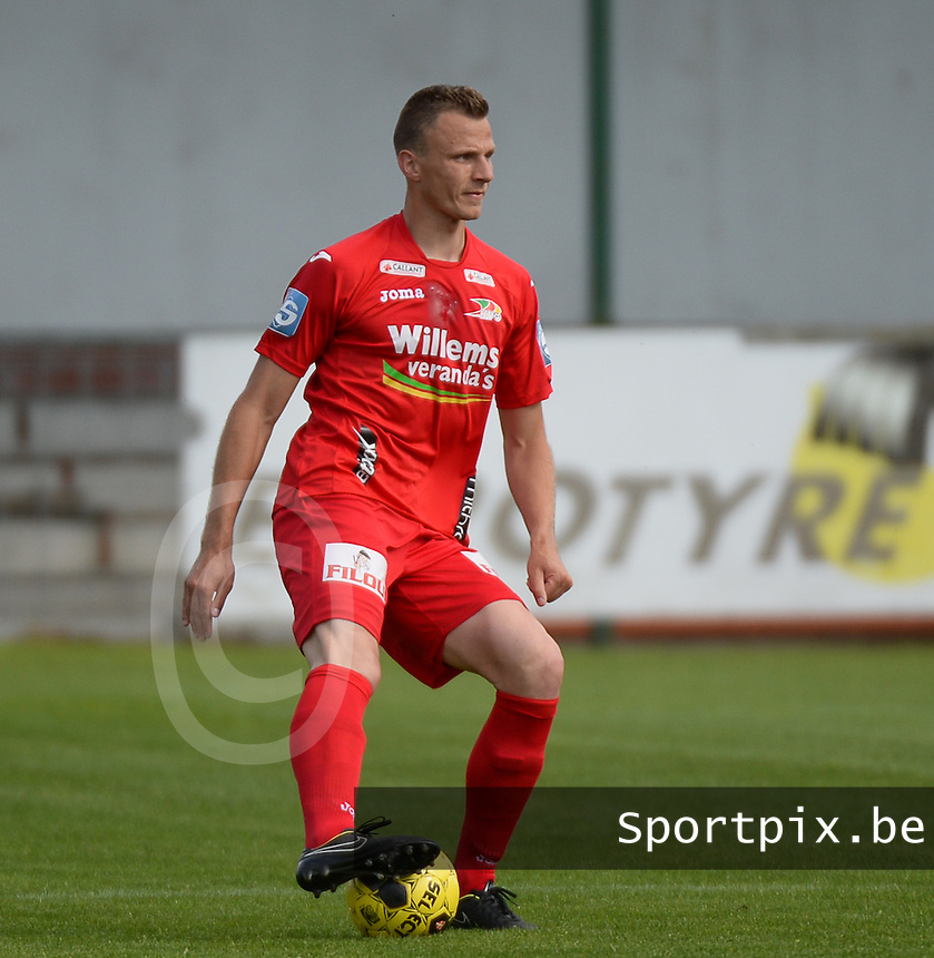 20150627 - INGELMUNSTER , BELGIUM : Oostende's Frederic Brillant pictured during a friendly match between Belgian first division team KV Oostende and Belgian fourth division soccer team OMS Ingelmunster , during the preparations for the 2015-2016 season, Saturday 27th June 2015 in Ingelmunster. PHOTO DAVID CATRY