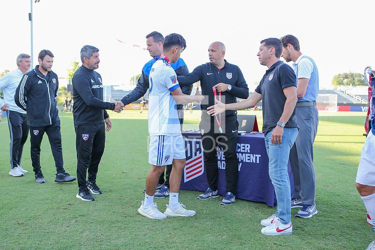 Irvine, CA - July 09, 2019: U.S. Soccer Boys' DA U-18/19 Final New York City FC vs FC Dallas at Great Park.