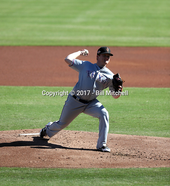 Tyler Davis - Surprise Saguaros - 2017 Arizona Fall League (Bill Mitchell)