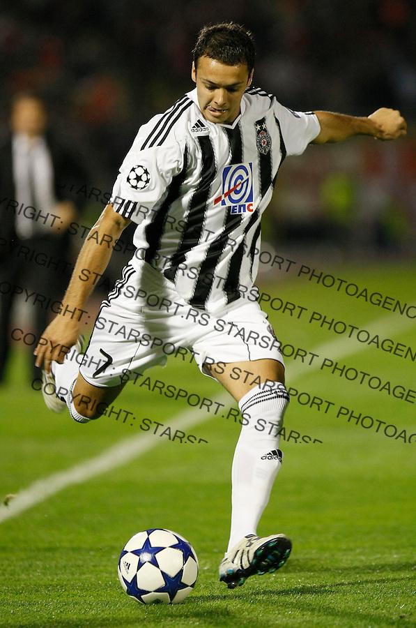Fudbal, Champions league,Group H season 2010/2011.Partizan Vs. Arsenal.Nemanja Tomic.Beograd, 29.09.2010..foto: Srdjan Stevanovic/Starsportphoto ©