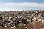 Israel, Jerusalem, The view from the Brigham Young University (Mormon University) on Mount Scopus<br />