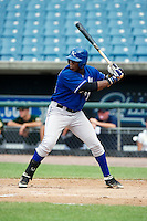 Justin Williams #33 of Terrebonne High School in Hourma, Louisiana playing for the Kansas City Royals scout team during the East Coast Pro Showcase at Alliance Bank Stadium on August 2, 2012 in Syracuse, New York.  (Mike Janes/Four Seam Images)