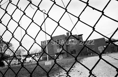 Charleston, West Virginia.USA .January 14, 2005..Abandon High School in central Charleston.