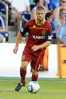 Real Salt Lake defender Chris Wingert in action... Sporting Kansas City defeated Real Salt Lake 2-0 at LIVESTRONG Sporting Park, Kansas City, Kansas.
