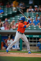 Syracuse Mets Danny Espinosa (18) bats during an International League game against the Indianapolis Indians on July 16, 2019 at Victory Field in Indianapolis, Indiana.  Syracuse defeated Indianapolis 5-2  (Mike Janes/Four Seam Images)