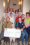 CHEQUE: On Monday night at the Kerins O'Rahillys GAA Club, Strand Road, Tralee Josie Kissane was presented with her Kerins O'Rahilly's Lotto Cheque of EUR13,400 in which she won congratulating Josie were her family and friends. They were: Micha?el Kerins (president of the club), Mick Griffin, Nellie Brosnan, Trisia Birmingham, Eamon Griffin, Breda Murphy, Mary Hartnett, Mary Edwards, Martina Griffin, Helen Foley, Brenda O'Connell and Vincent Murphy..   Copyright Kerry's Eye 2008