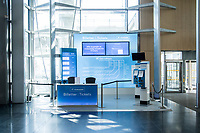 Norwegian authorites introduced measures to combat the Coronavirus (COVID-19)  leaving Gardermoen Airport, near the Norwegian capital Oslo, deserted. <br /> <br /> Restriction on public gatherings and travel have grounded most airplanes, and stopped nearly all domestic and foreign travel. <br /> <br />  Like most capitals, Oslo is usually busy on a Saturday night. But on the first weekend after Norwegian authorites introduced measures to combat the Coronavirus (COVID-19) the city was almost deserted. <br /> <br /> Restriction on public gatherings, closure of schhols, new rules for those serving food and drinks, and fear of further spread of the virus compelled most bars and restaurants to close. <br /> <br /> 28,5 million passangers used the airport in 2018, with the airline Norwegian flying the most people. At teh time of writing Norweigan is on the verge of bankruptcy, and hoping to get governemnt aid to surive the economic crisis caused by the corona virus.  <br /> <br /> <br /> ©Fredrik Naumann/Felix Features