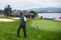 Tiger Woods (USA) heads for the tee on 9 during round 1 of the 2019 US Open, Pebble Beach Golf Links, Monterrey, California, USA. 6/13/2019.<br /> Picture: Golffile | Ken Murray<br /> <br /> All photo usage must carry mandatory copyright credit (© Golffile | Ken Murray)