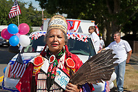 Bonnie Graft, Muckleshoot Indian Tribe, Auburn Days Parade, Auburn, WA, USA.