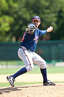 Amilcar Gaxiola of the Gulf Coast League Braves during the game against the Gulf Coast League Phillies July 10 2010 at the Disney Wide World of Sports in Orlando, Florida.  Photo By Scott Jontes/Four Seam Images