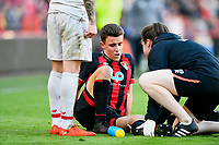 Injury concern for Luke Nippard of AFC Bournemouth during AFC Bournemouth Under-21 vs Liverpool Under-21, Premier League Cup Football at the Vitality Stadium on 24th February 2019