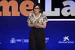 Spanish actress Ana Morgade during the Final of the Spanish edition of 2017 of the contest of scientific monologues 'Famelab'. May 24 ,2017. (ALTERPHOTOS/Pool)